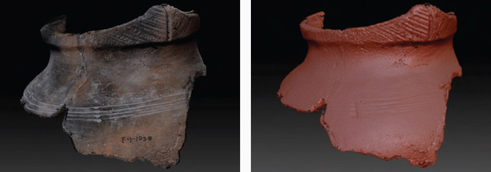 3d scan of artifacts