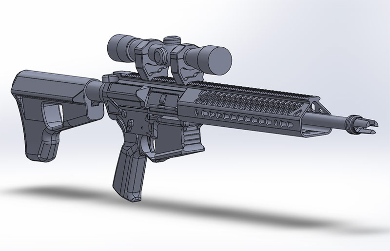 Reverse Engineering an AR-10 Rifle from Scan Data - Polyga