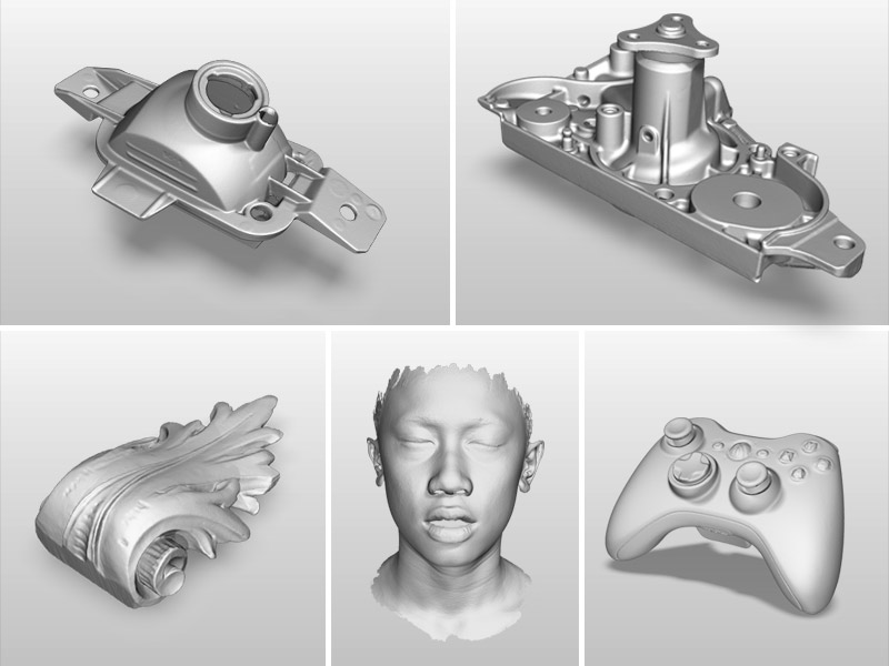 H3 handheld 3d scanner scan samples