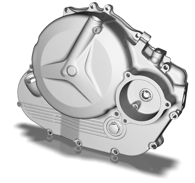 Render of engine cover 3d scan