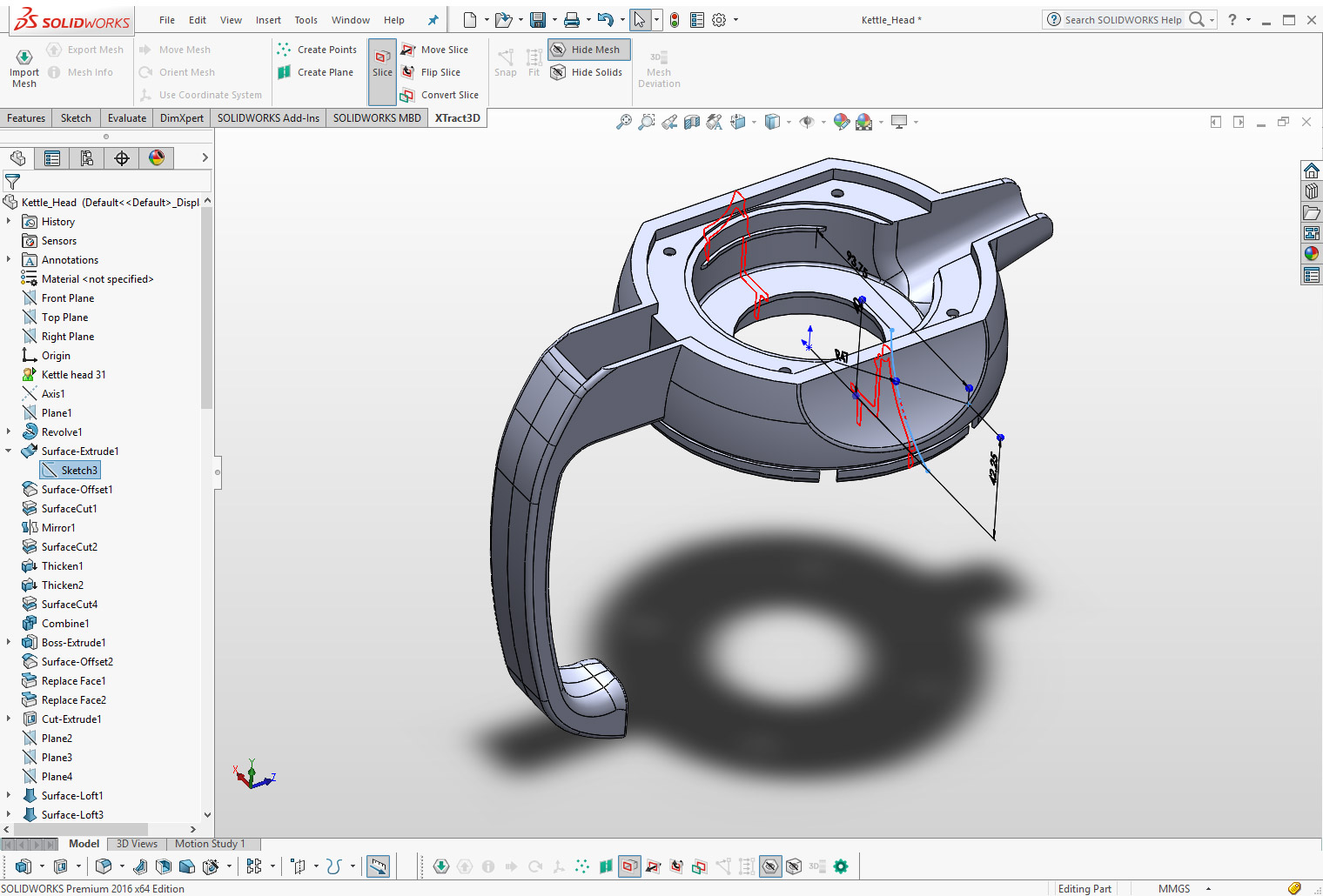 Xtract3d Add In For Solidworks Scan To Cad Tool